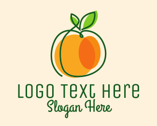 Fruity - Minimalist Orange Fruit logo design