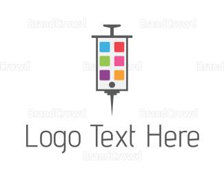 Injection - Phone Medicine logo design