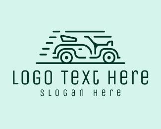 Minimalist Vintage Car Logo