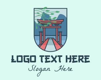 Tourist Destination - Japanese Torii logo design