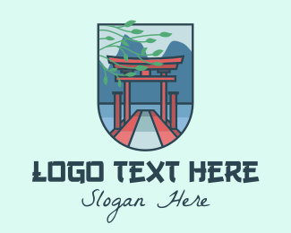 Asia - Japanese Torii Gate logo design