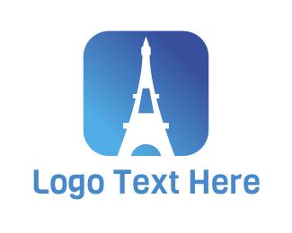 Travel - Eiffel App logo design