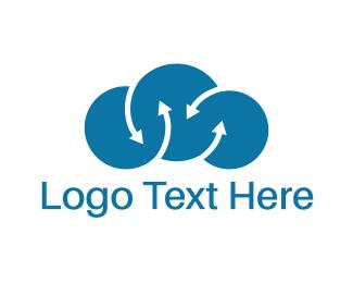 Stream - Cloud Arrows logo design