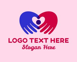 Hands - Heart Hands  logo design