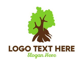 Lumber Mill - German Nature Tree logo design