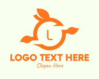 Juice Shop - Orange Fruit Lettermark logo design