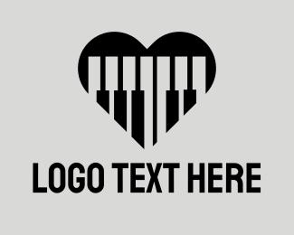 """Piano Keys Heart"" by CreativePixels"