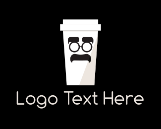 Black Man - Coffee Cup Cartoon logo design