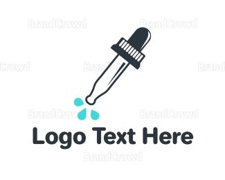 Infant - Black Abstract Dropper logo design