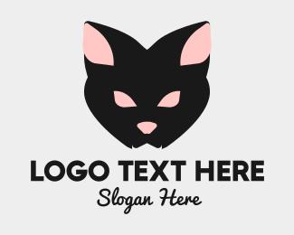 Gothic - Halloween Black Cat logo design
