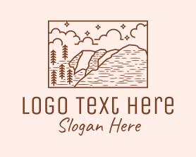 Hiking - Outdoor Wilderness Landscape logo design