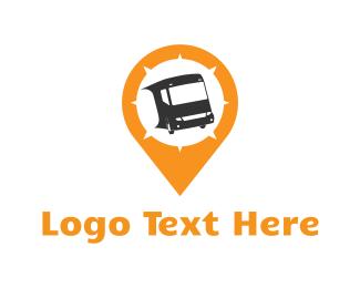 Coach - Bus Locator logo design