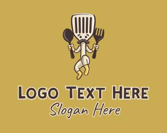 Diner - Spatula Man Diner logo design
