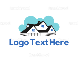 Neighborhood - Cloudy House logo design