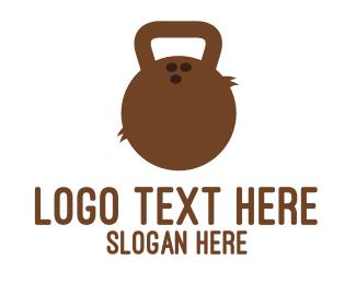 Weights - Coconut Kettlebell logo design
