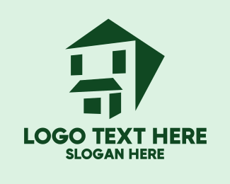 Roofing Service - Green House Facade logo design