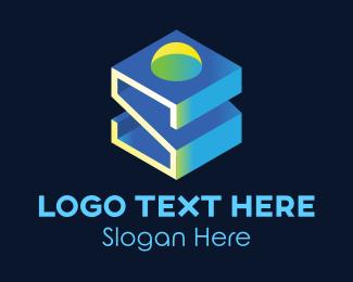 Company - 3D Letter S logo design