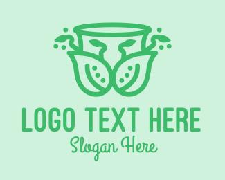 Indoor Plant - Ornamental Plant Cup logo design
