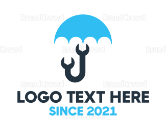 Umbrella - Mechanic Umbrella logo design