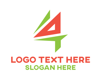 Drafting - Triangle Number 4 logo design