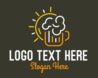 Day - Sun Beer logo design