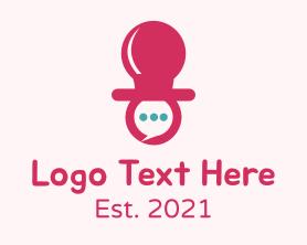 Social Media - Baby Talk Pacifier logo design