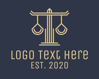 Judiciary - Silver Law Firm Scales logo design
