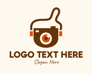 Viewfinder - Eye Camera Bag  logo design