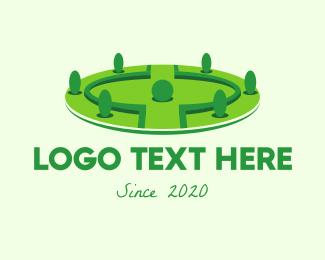 Garden - Landscaping Garden Park logo design