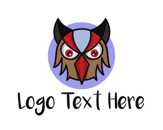 Angry Owl Mascot Logo