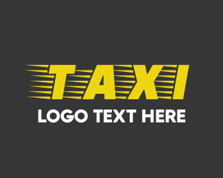 Car Service - Taxi Font logo design