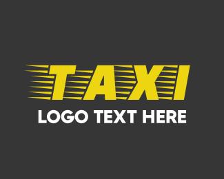 Transfer - Taxi Cab Font Text logo design