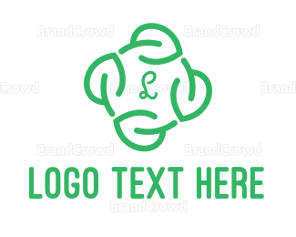 Lettermark - Leaf Circle Lettermark logo design