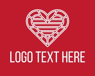 Valentines Day - Intricate Valentine Heart logo design
