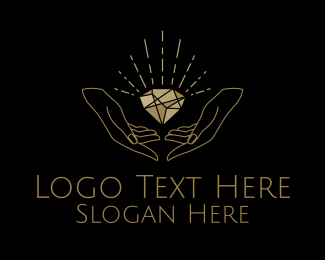 Mine - Minimalist Diamond Jewelry  logo design