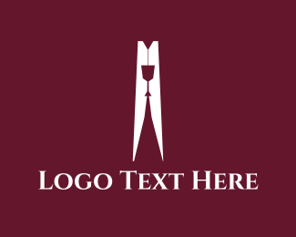 Wine Glass - Wine Peg logo design