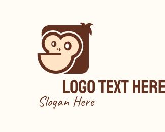 Ape - Cute Gorilla Mascot logo design