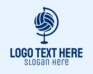 Volleyball Equipment - Volleyball Globe  logo design