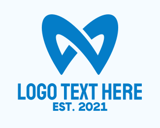 Oral Health - Blue Dentistry Letter M logo design