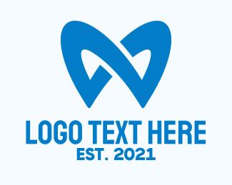 Oral Care - Blue Dentistry Letter M logo design