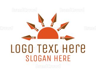 Blade - Sun Spears logo design