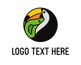 Snake - Tucan Jungle Tours logo design