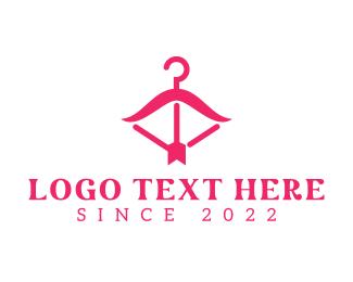 Female - Pink Fashion Hanger logo design