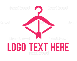 Shop - Pink Fashion Hanger logo design