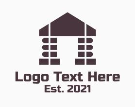 Real Estate - Library Building logo design