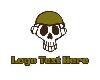 Warfare - Skull Soldier logo design