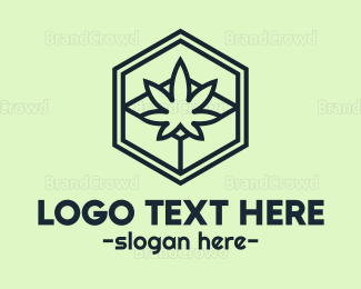 Marijuana Leaf - Weed Box logo design