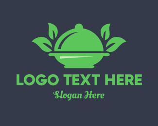 Vegan - Green Food Vegan Restaurant logo design