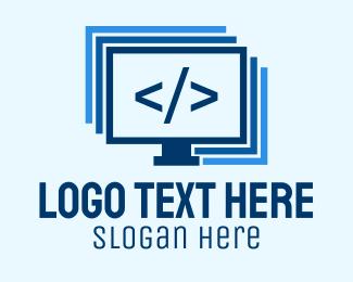 Programmer - Programmer Computer Monitor logo design