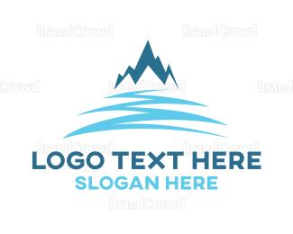 Aspen - Snow Blue Mountain logo design